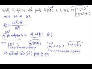 Distancia entre punto y recta (Fórmula)