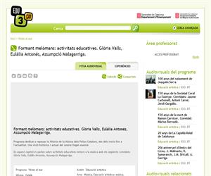 Formant melòmans: activitats educatives. Glòria Valls, Eulàlia Antonés, Assumpció Malagarriga. (Edu3.cat)