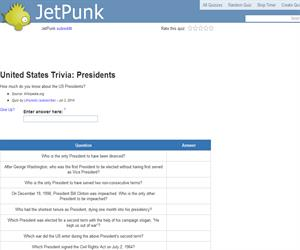United States Trivia: Presidents