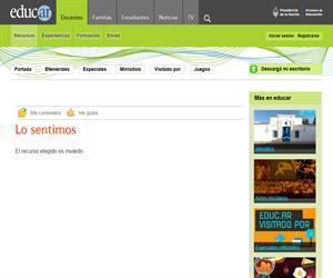 Recursos interactivos educ.ar. Lengua