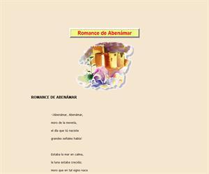 Romance de Abenámar, lectura comprensiva interactiva