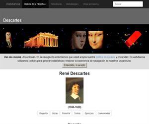 René Descartes: biografía (webdianoia)