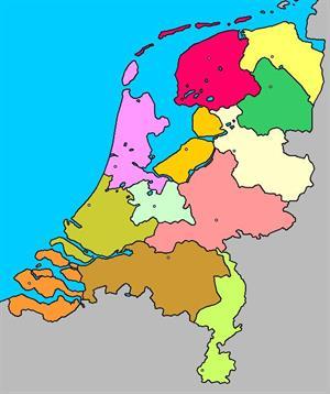 Mapa interactivo de Holanda: provincias y capitales (luventicus.org)