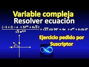 Ecuación de variable compleja, con exponente fraccionario, exponenciales, cis, paso a paso