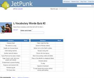 L Vocabulary Words Quiz 2