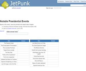 Notable Presidential Events