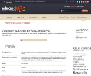 Cancionero tradicional: En Santa Amalia -vals- (Educarchile)