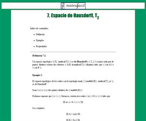 Espacio de Hausdorff (T2)