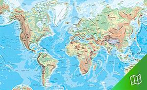Mapa físico del Mundo escala  1:82.350.000