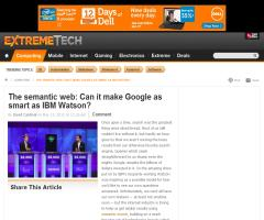 The semantic web: Can it make Google as smart as IBM Watson?