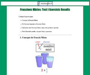Fraccions Mixtes (test i exercicis)