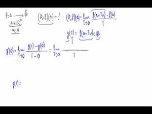 Derivada direccional derivando una función de una variable (Teoría)