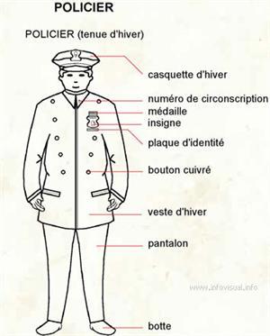 Policier (Dictionnaire Visuel)