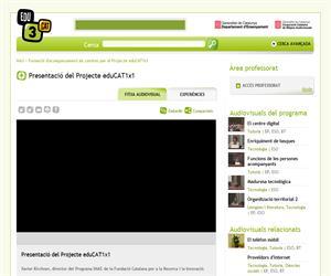 Presentació del Projecte eduCAT1x1 (Edu3.cat)