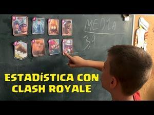 Aprende estadística con Clash Royale: media, moda y mediana