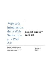 Web 3.0:integración de la Web Semántica y la Web 2.0