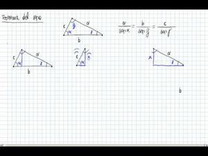 Enunciado y demostración del Teorema del seno