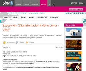 """Exposición: """"Día internacional del escultor - 2012?"""
