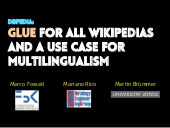 DBpedia: Glue for all Wikipedias and a Use Case for Multilingualism