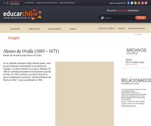 Alonso de Ovalle (1603 - 1671) (Educarchile)