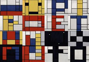 Modifica una obra de Mondrian según tu estilo