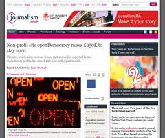 Non-profit site openDemocracy raises £250K to stay open