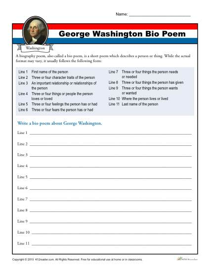 George Washington Bio Poem