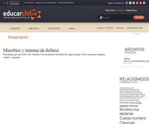 Microbios y sistemas de defensa (Educarchile)