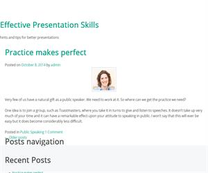 Effective Presentation Skills, consejos para hablar en público