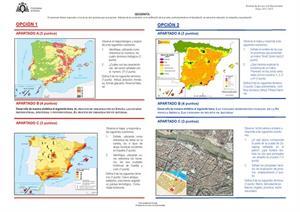 Examen de Selectividad: Geografía. Asturias. Convocatoria Julio 2013