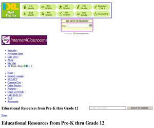 Internet4Classrooms.com, todos los recursos educativos en inglés de la Red