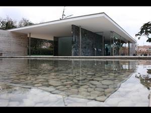 Pabellón alemán de la exposición de Barcelona de Mies van der Rohe