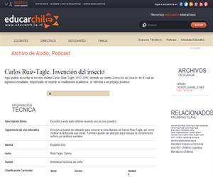 Carlos Ruiz-Tagle. Invención del insecto (Educarchile)