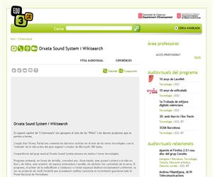 Orxata Sound System i Wikisearch (Edu3.cat)