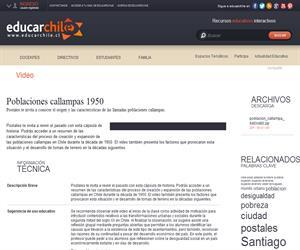 Poblaciones callampas 1950 (Educarchile)