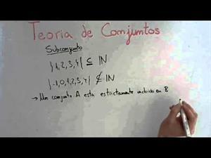 6 Teoría de Conjuntos || Subconjuntos