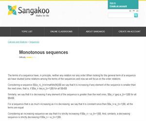 Monotonous sequences