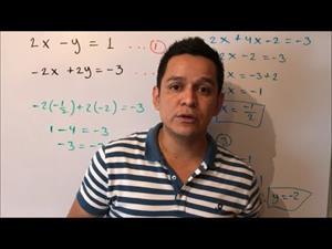 Sistemas de ecuaciones lineales de 2x2. Método de sustitución. Ejemplo 1 #33
