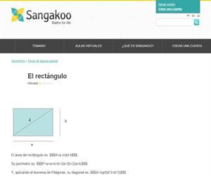 El rectángulo: área, perímetro y diagonal (sangakoo)