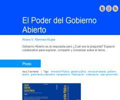 El poder del Gobierno Abierto (Álvaro V. Ramírez-Alujas)
