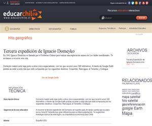 Tercera expedición de Ignacio Domeyko (Educarchile)