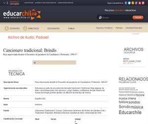 Cancionero tradicional: Brindis (Educarchile)