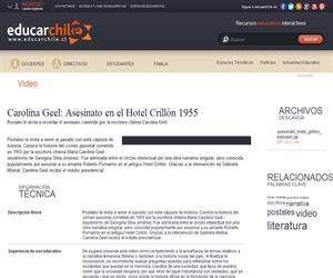 Carolina Geel: Asesinato en el Hotel Crillón 1955 (Educarchile)