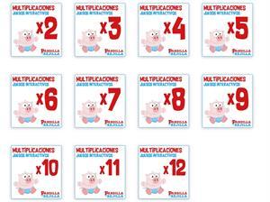 Juegos Interactivos de Tablas de Multiplicar. La Pandilla de la Rejilla