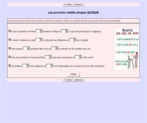 Les pronoms relatifs simples QUI/QUE