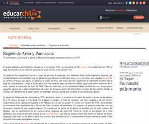 XV Región: Iglesia de Parinacota (Educarchile)