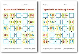 Ejercicios de suma y resta (neoparaiso.com)