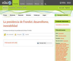 La presidencia de Frondizi: desarrollismo, inestabilidad