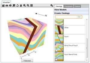 Visible Geology,  crea modelos geológicos en 3D