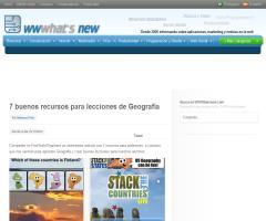 7 recursos web para Geografía